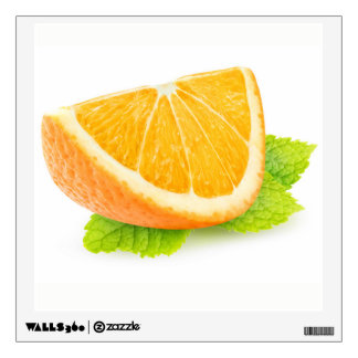 Orange and mint wall sticker