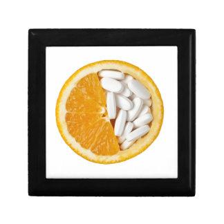 Orange and pills gift box