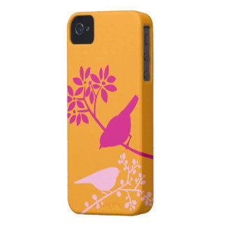 Orange and Pink Birds iPhone 4 Cover