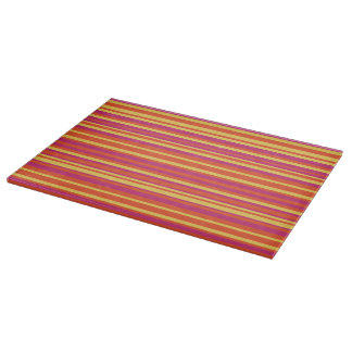 Orange and Pink Fiesta Striped Cutting Board