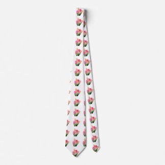 Orange and Pink Hyacinths Tie