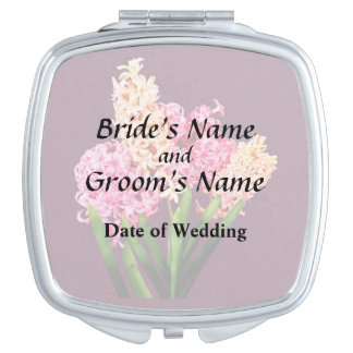 Orange and Pink Hyacinths Wedding Products Compact Mirrors