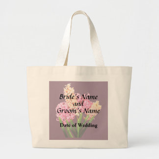 Orange and Pink Hyacinths Wedding Products Large Tote Bag