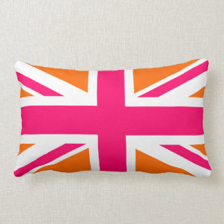 Orange and Pink Union Jack Lumbar Pillow