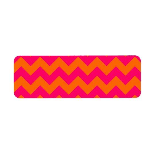Orange and Pink Zigzag