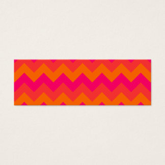 Orange and Pink Zigzag Mini Business Card