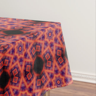 Orange And Purple Geometrical Abstract Pattern Tablecloth