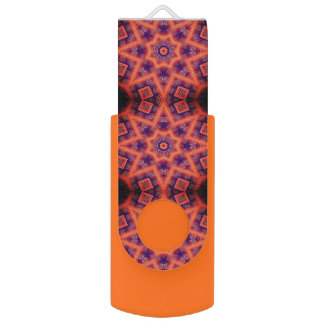 Orange And Purple Geometrical Abstract Pattern USB Flash Drive