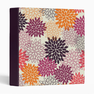 Orange and Purple Mums 3 Ring Binder