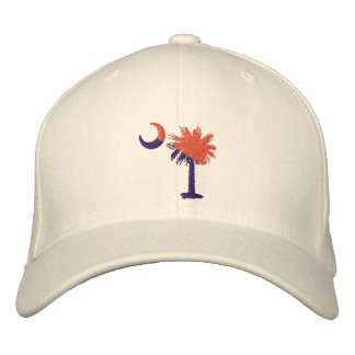 Orange and Purple Palmetto Embroidered Hat