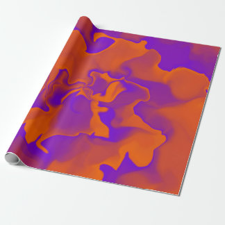 Orange and Purple Waves Wrapping Paper