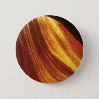 orange and red flow 2 inch round button