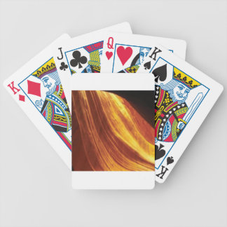 orange and red flow bicycle playing cards