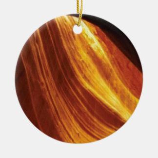 orange and red flow ceramic ornament