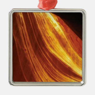 orange and red flow metal ornament