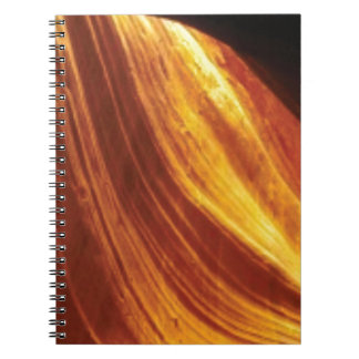 orange and red flow notebooks