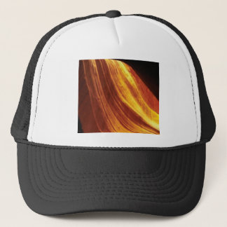 orange and red flow trucker hat