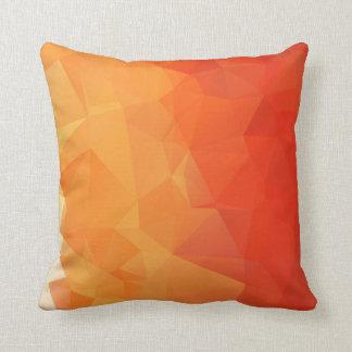 Orange and Red Geometric Throw Pillow