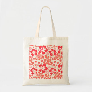 Orange and red hibiscus pattern - Hawaii! Tote Bag