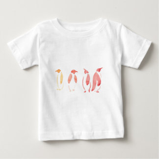 Orange and Red Penguins Baby T-Shirt