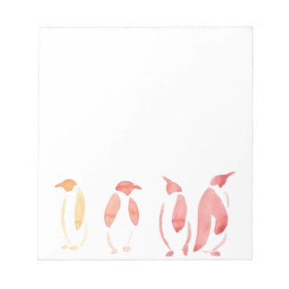 Orange and Red Penguins Notepads