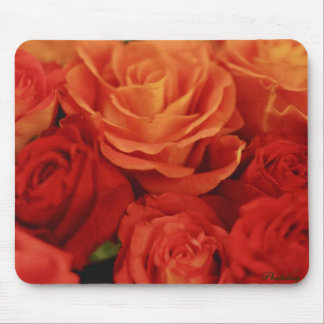 Orange and Red Roses Mousepad