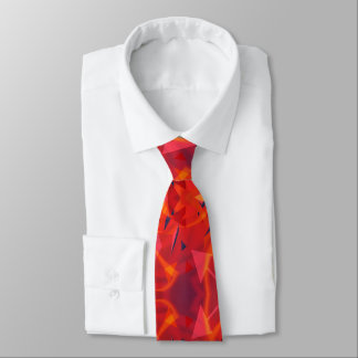 Orange And Red Vintage Abstract Pattern Tie