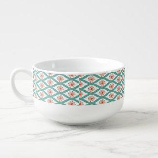 Orange and Teal Abstract Soup Mug