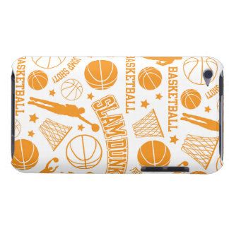 Orange and White Basketball Pattern Barely There iPod Case