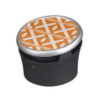 Orange and White Criss-Cross-Patterned Speaker