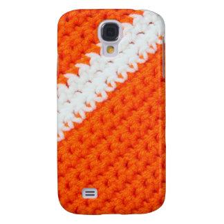 Orange and White Crochet