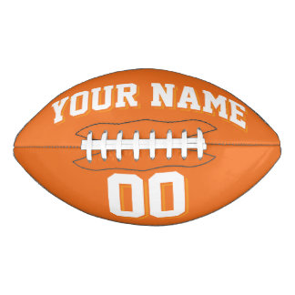 ORANGE AND WHITE Custom Football