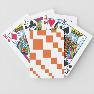 Orange and White Descending Diamond Bicycle Playing Cards