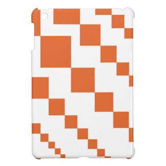 Orange and White Descending Diamond Case For The iPad Mini