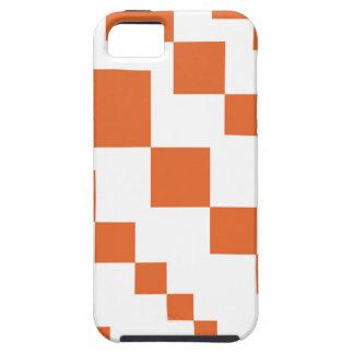 Orange and White Descending Diamond Case For The iPhone 5