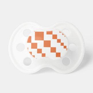 Orange and White Descending Diamond Pacifier