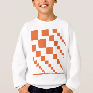 Orange and White Descending Diamond Sweatshirt