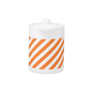 Orange and White Diagonal Stripes Pattern
