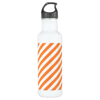 Orange and White Diagonal Stripes Pattern