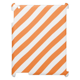 Orange and White Diagonal Stripes Pattern Cover For The iPad 2 3 4