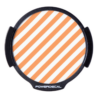 Orange and White Diagonal Stripes Pattern LED Window Decal