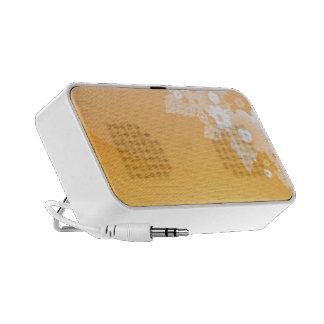 Orange and white Flourishes iPod Speakers