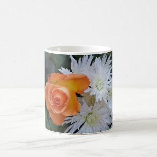 Orange and White Flowers Morphing Mug