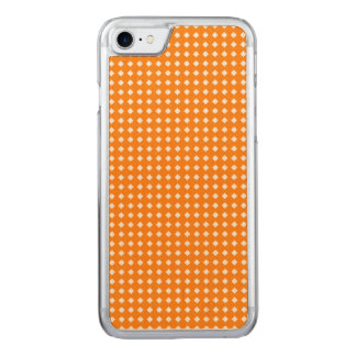 Orange and White Geometric Pattern Diamonds Carved iPhone 8/7 Case
