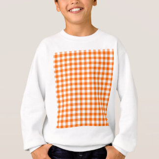 Orange and White Gingham Sweatshirt