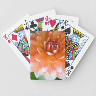 Orange and White Glory Bicycle Playing Cards
