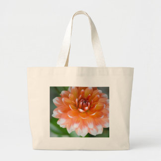 Orange and White Glory Large Tote Bag