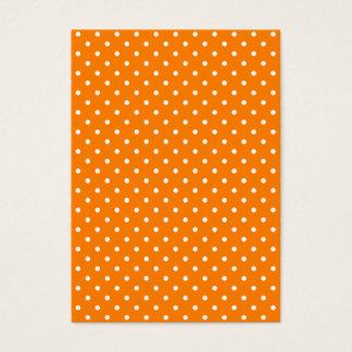 Orange and White Polka Dots Business Card