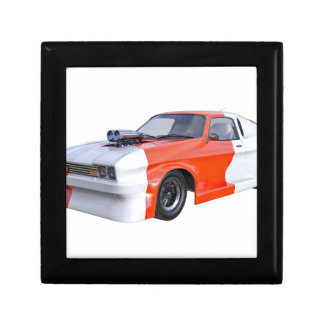 Orange and White Racing Car Gift Box