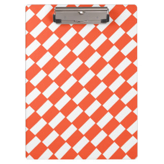 Orange and white rectangles retro pattern. clipboards